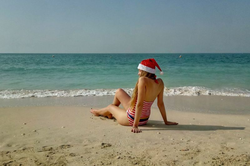 Cloudscape Wave Sea Water Nature Scenics Christmas Spirit Christmas Time Christmas Dubai Beach