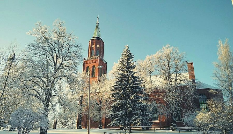 My favourite church❤ Savonlinna Church Winter Trees -30°C EyeEm Best Shots Finland Winter Wonderland Sunlight Snowy Architecture Showcase: January