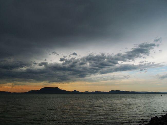 Summer Sunset Balaton - Hungary Balaton,Summer,Holiday Olympus OM-D E-M5 Badacsony Lake Cloud - Sky Clouds Cloud Water Sky Beauty In Nature Horizon Over Water Mountain No People Nature