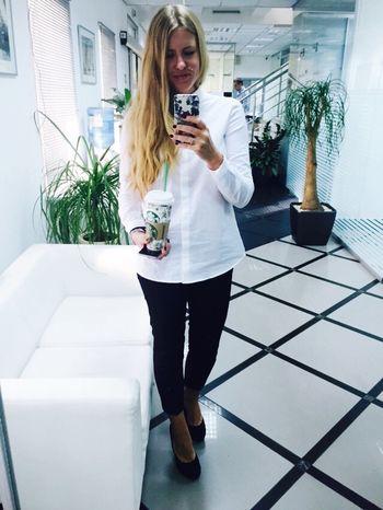 Selfie ✌ Office Starbucks Coffee