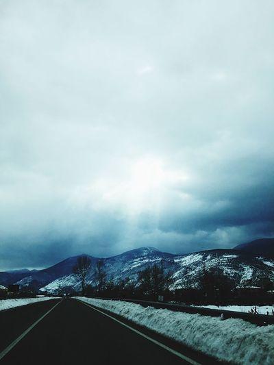 Neve Freddo Freddo Polare!😆 Snow Cold Street Strada Nuvole Clouds And Sky Raggiodisole