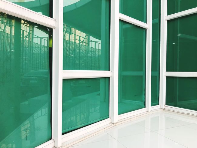 Pearly Tiles Rectangle Glasses EyeEm Selects Architecture Built Structure Green Color No People Door Day Building Exterior