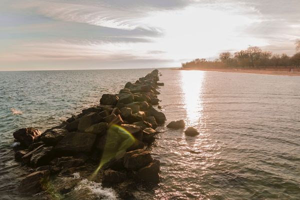 Nature Sea Beauty In Nature Water Sky Rock - Object Scenics Tranquility Tranquil Scene No People Sunlight Outdoors Horizon Over Water Sunset Day First Eyeem Photo Horizon EyeEm Best Shots