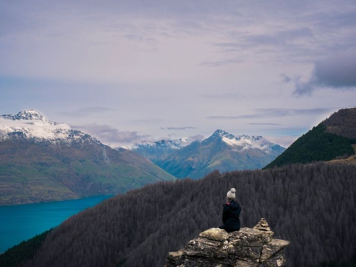 Adventure is a lifestyle Mountain Scenics - Nature Beauty In Nature One Person Lifestyles Real People Go Higher Mountain Range Sky Cloud - Sky Leisure Activity Environment Nature Tranquil Scene Tranquility Standing Non-urban Scene Rear View Landscape Activity Outdoors