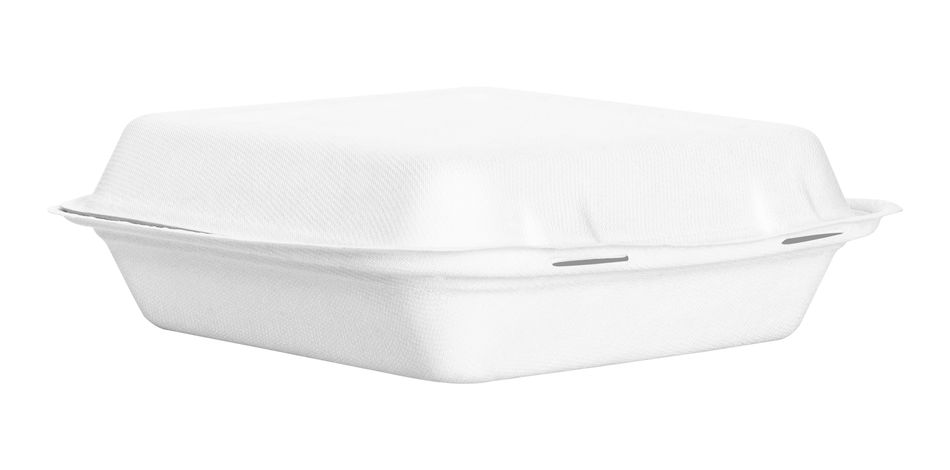 Food box or container isolated on white background. Fast food package made from natural paper material. ( Clipping path ) White Color Cut Out Studio Shot Copy Space White Background Empty Single Object Container Box Box - Container Paper Material Container Food Fastfood Closed Cardboard Cardboard Box Design Clipping Path Isolated Isolated White Background Paper Box Carton Recycle
