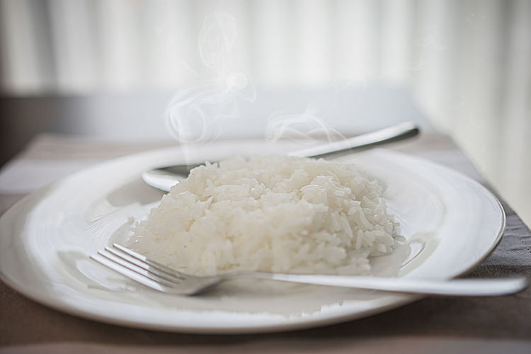 cooked rice in