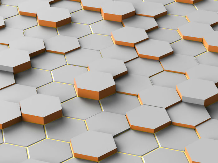 Abstract Digital Gray Hexagon geometric random and Background Large Group Of Objects Repetition White Background Still Life Geometric Shape Studio Shot Hexagon White Color Directly Above Close-up High Angle View Full Frame Shape Backgrounds Wall - Building Feature Indoors  Pattern No People Paper Design Ideas Creativity Simplicity