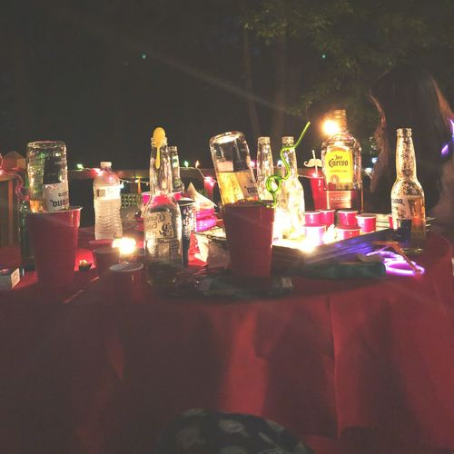 Table Party Glow Summer Beer Tequila - Drink Drink Illuminated Night Decoration Celebration