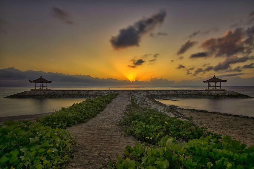 when the sun shining. EyeEmNewHere Sunrise Long Exposure Water Sea Sunset Beach Fishing Beauty Sun Sky Horizon Over Water Cloud - Sky Romantic Sky Seascape My Best Travel Photo