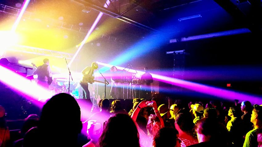 Music Arts Culture And Entertainment Nightlife Performance People Popular Music Concert Stage - Performance Space Multi Colored Large Group Of People Live Event Stage Light Audience Crowd