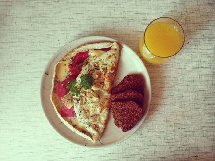 Food Breakfast Omlette Juice Bread Eating Eat Eatlover Eyeem Food  Omnomnom