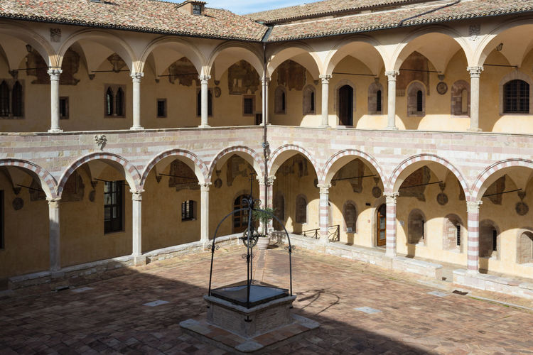 Basilica Cathedral Church Saint Francis Of Assisi Arch Architectural Column Architecture Building Exterior Built Structure Day Italy No People Outdoors Religion Umbria