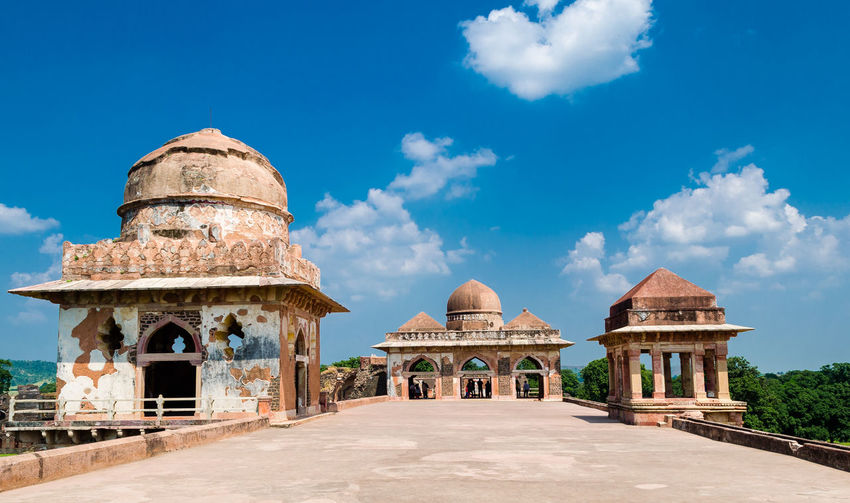 Ancient Arch Architecture Blue Built Structure Cloud Cloud - Sky Day Diminishing Perspective Dome Façade Footpath Grass History Mandu No People Outdoors Sky The Past The Way Forward Tourism Travel Destinations Walkway The Architect - 2016 EyeEm Awards