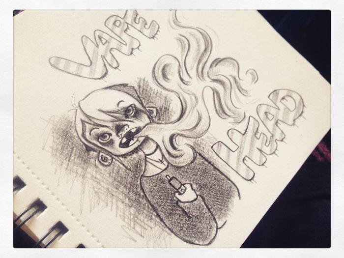 Art Drawing Doodle Cartoon Sketch Cute Awesome Sauce Ghoul Vape VapeLife Creepy