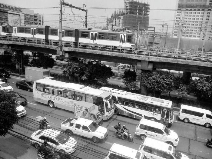 Transportation Lightrailtransit Traffic Jam Philippine Transport System