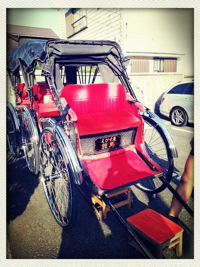 乗り心地いいです♪人力車 Red Japan Style