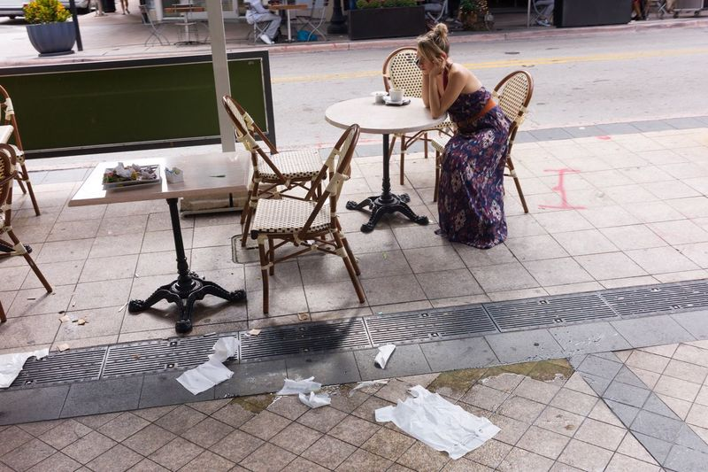 Chair Full Length One Person Real People Indoors  Day People Adult Garbage Phone Call Streetphotography
