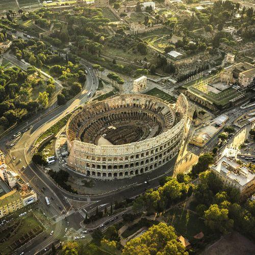 High angle view rome