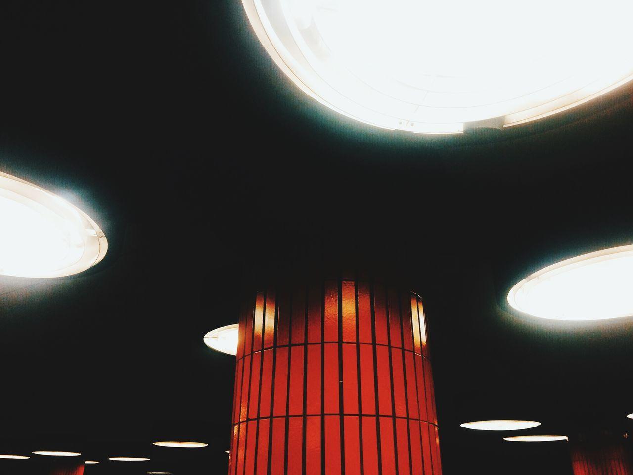 Illuminated Lights On Ceiling
