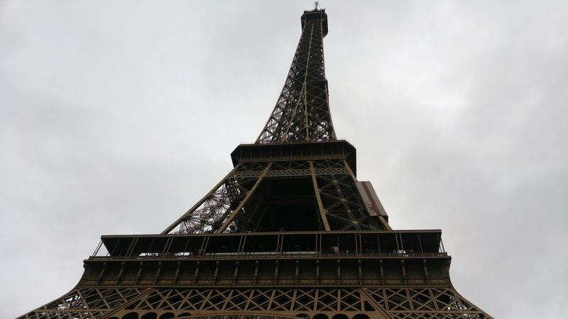 Eiffel Tower Eiffel Tower Eiffeltower Eiffel Paris Solumn Moody Winter Rain Cloudy Landscape Wallpaper