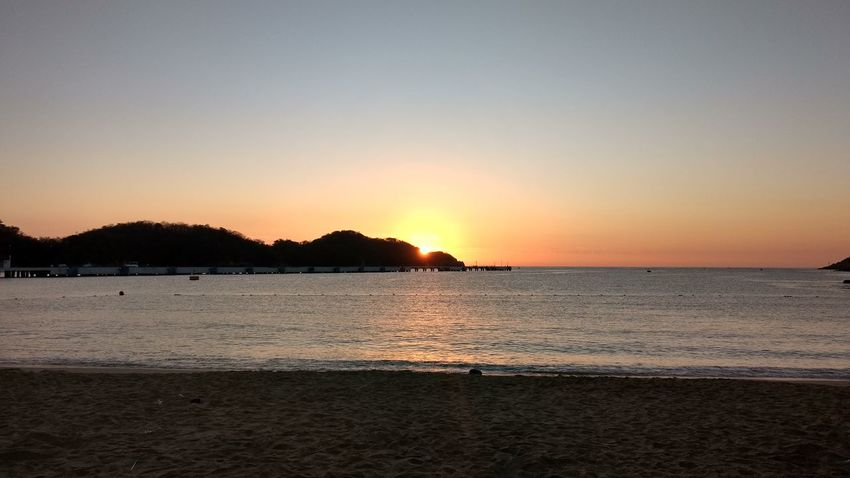 Sunset Water Silhouette Reflection Tree Outdoors Sky Tranquility Vacations Beauty In Nature Scenics Huatulco