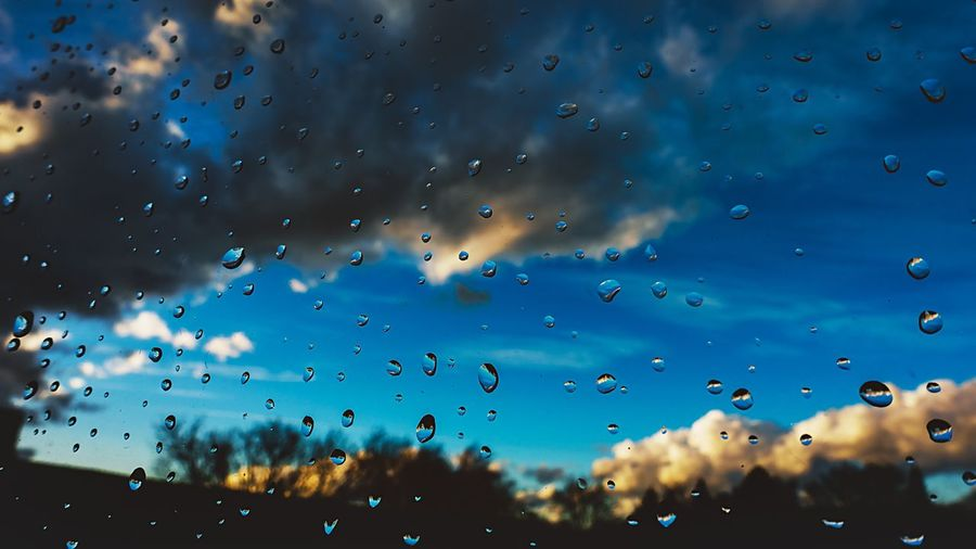 EyeEm Best Shots EyeEm Selects EyeEm Gallery EyeEm Nature Lover Drop Wet Window Water Rain Sky Glass - Material Transparent Nature No People RainDrop Full Frame Backgrounds Cloud - Sky Rainy Season Close-up Focus On Foreground Day Outdoors Glass My Best Photo