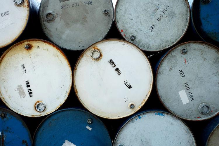 Full frame shot of oil drum