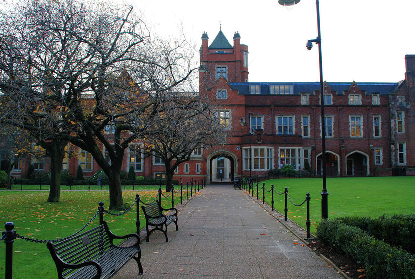 Belfast City Cityscape Northern Ireland Queen's University United Kingdom Architecture Building Building Exterior Built Structure City Day Grass Outdoors Tree Uk University