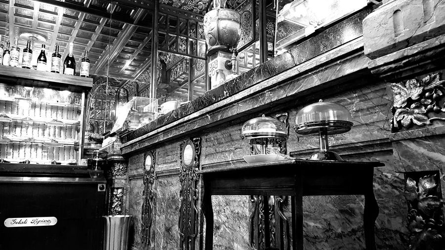 Historical cafè founded in 1879 Historic Historical Place Black And White Photography Details Turin Italy Marbles Vintage Coffee Shop Historical Site City Architecture