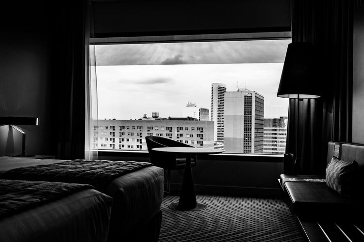 Absence Architecture Auto Post Production Filter Building Building Exterior Built Structure City Comfortable Glass - Material Home Home Interior Hotel Window Indoors  Modern Narrow Office Building Order Pattern Skyscraper Transfer Print View View From The Hotel Window View From The Window... Window
