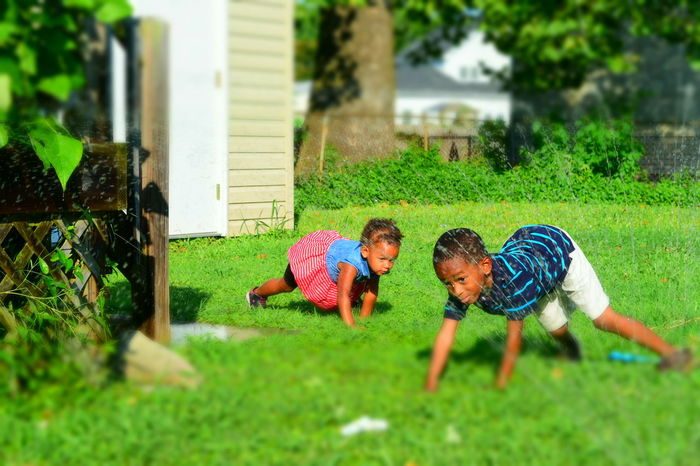 Backyard Crawling Crazy Kids Cute Focus On Foreground Garden Grass Grassy Green Color Lawn Leisure Activity Outdoors Selective Focus Sprinkler Colour Of Life My Year My View