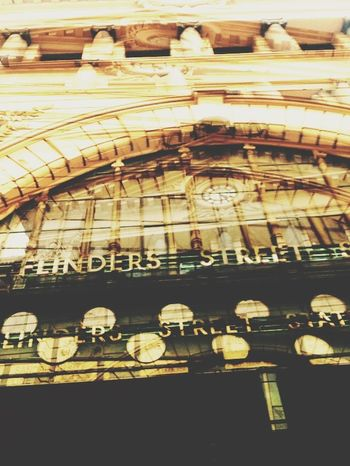 Flinders street train station inception Taking Photos Creative Beautiful Surroundings Melbourne Streetart Urban Geometry Inception Mariogordon