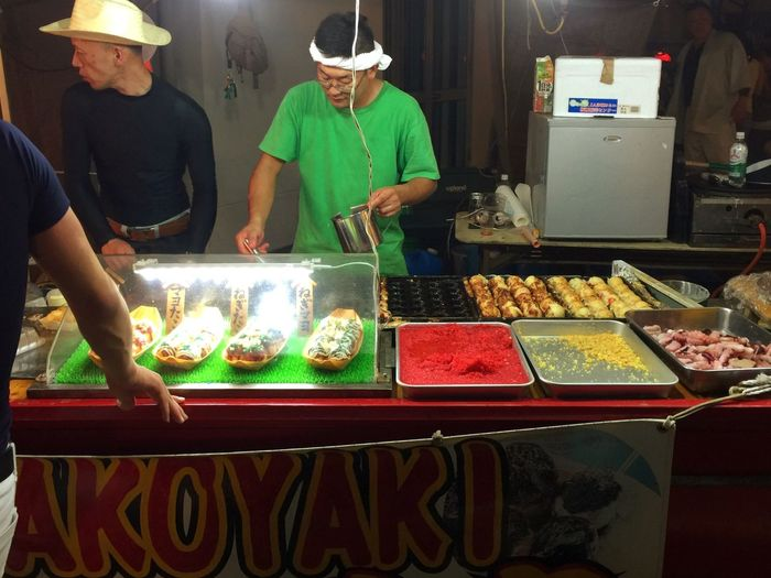 Takoyaki Takoyaki Yatai Yomise Food Stall Festival