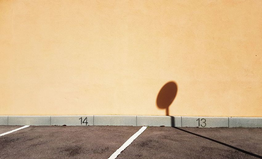 Shadow of lamp on wall