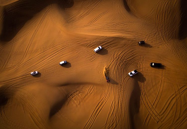 UAE DJI Mavic Pro Mavic Pro Drone  Sand High Angle View No People Backgrounds Brown Gold Colored Pattern Sand Dune Desert Day The Great Outdoors - 2018 EyeEm Awards 2018 In One Photograph