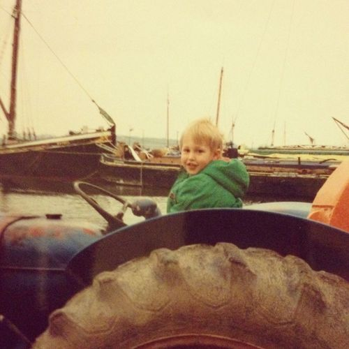 Enjoying The View Lifeofgreen Throwback Boy Babyboy Tractor Throwback Pic Oldschool Iwascute Cute Kids