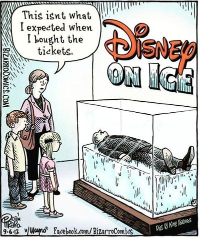 "Kind of reminds me of the movie Rat Race when they went to the ""Barbie"" Museum. Not exactly what they were expecting. Disney Disneyonice Funny Instafunny Instapic Instadaily Instagram"