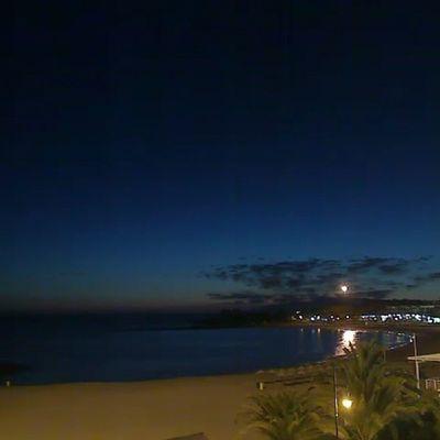 Sunset from Los Cristiano Tenerife 14/04/05 kl 22:00 Nature Sky Sun Sunset