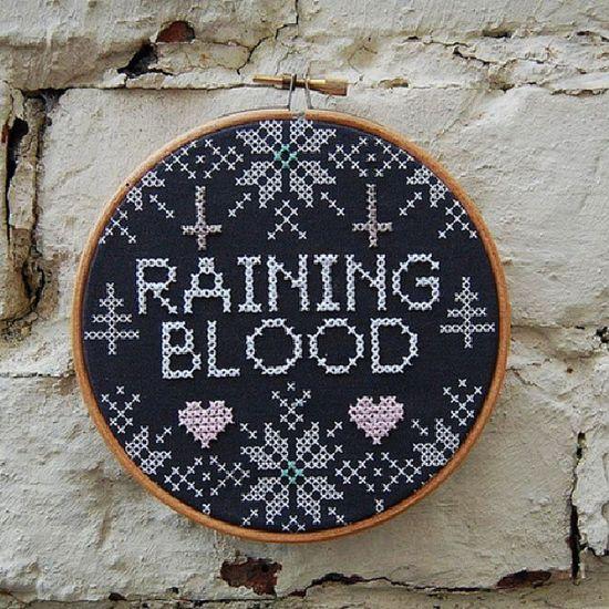 Slayer stitchwork Slayer Fancy Rainingblood