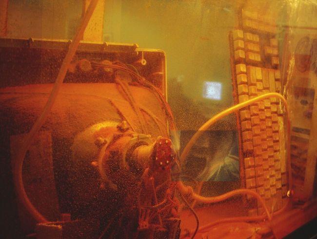 Computer Pollution Rust Lust Under Water sculpture - pc underwater Obsessive Edits NEM Derelict NEM Still Life Beautiful Decay