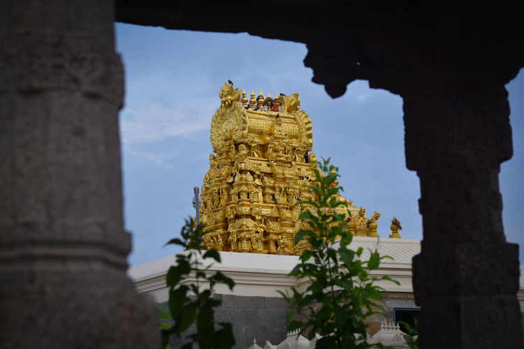 My Click Nikon D3300 Kanchipuram Architecture Religion Spirituality Travel Destinations Built Structure Building Exterior South India Sculpture Place Of Worship Spirituality Statue tower