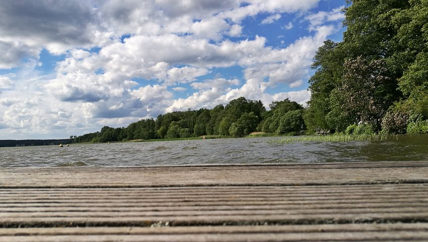 Cloud - Sky Sky Outdoors No People Nature Day Scenics Water Tree Beauty In Nature Landscape Beach Sea Wood - Material Pier Scharmützelsee Bad Saarow