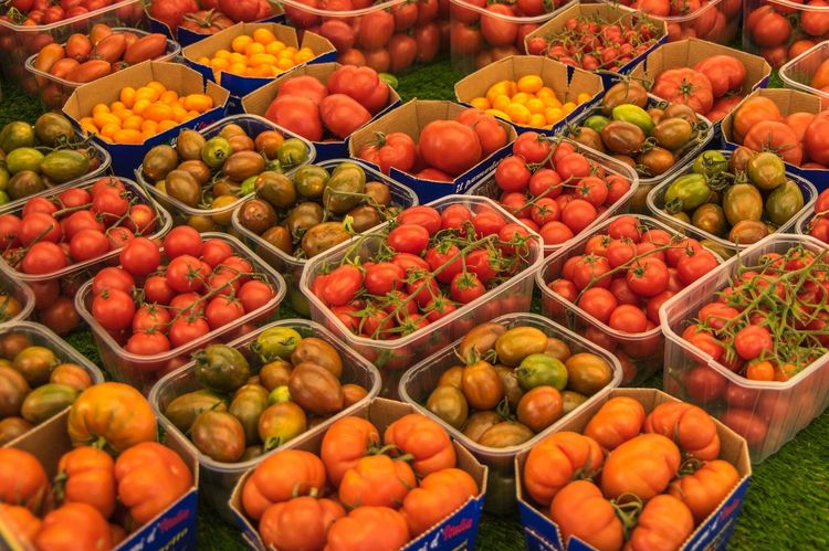 Travel Photography Travel Abundance Arrangement Choice Food Stories For Sale Full Frame Large Group Of Objects Market Market Stall Multi Colored No People Tomatoes Variation Vegetable