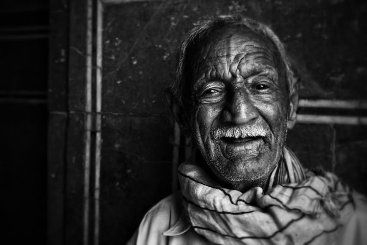 Lahore Portrait Black And White