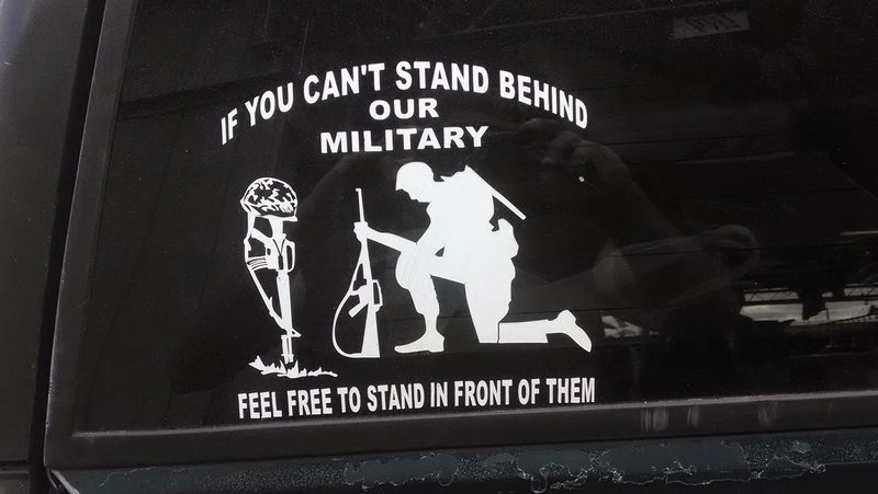 Stand Up For Our Troops Communication Text Close-up