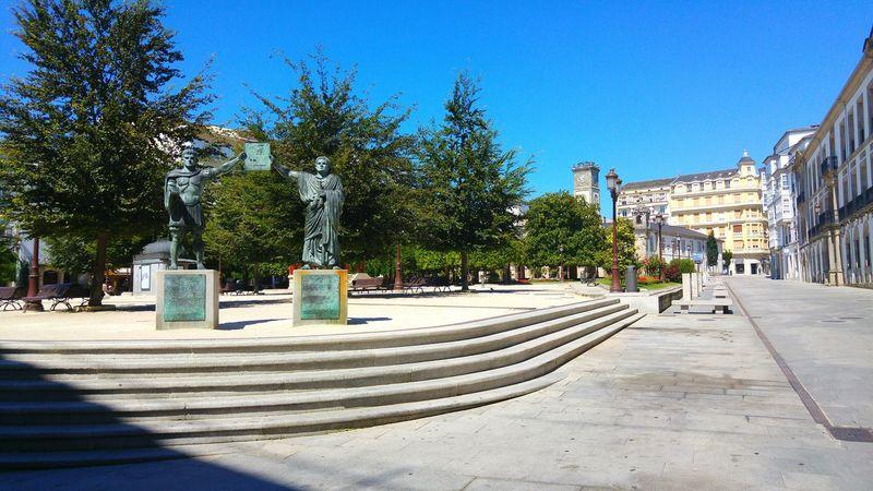 Sunny Day Square Monument Galicia Galicia, Spain Lugo, Galicia, Spain Lugo Streetphotography Arquitecture No People Building Exterior History Roman Empire Streetview Blue Sky
