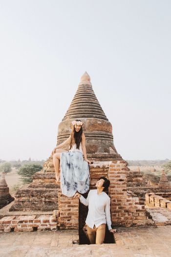 Be. Ready. EyeEm Selects Early mornings in Bagan, Myanmar. Travel Destinations Vacations Old Ruin Bagan, Myanmar Temple Architecture Myanmar Travelers Early Morning Morning Light Married Couple Honeymoon Dreamlike Surreal Adventure Buddies Ancient Civilization