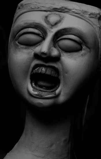 Burnoutart Clay Sculpture Fineart Halloween Screamingfaces Sculpture Shout Out Statue
