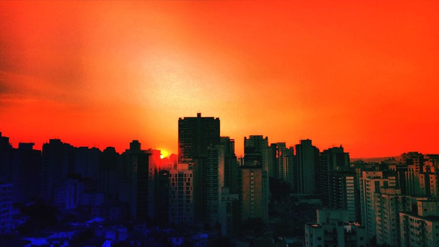 SAO PAULO BRAZIL AUTUMN Architecture Building Exterior Built Structure City City City Life Cityscape Development EyeEm Team Growth Illuminated Modern Nature No People Office Building Orange Color Outdoors Residential Building Residential District Sky Skyscraper Sunset Tall - High Urban Urban Skyline