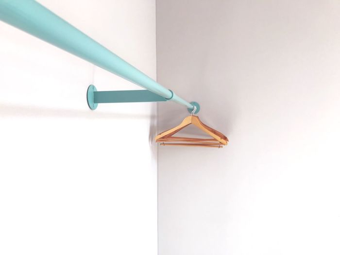 Home Interior Beauty Fashion The Week on EyeEm EyeEm Selects Getty Images Minimal Minimalism White Hangers Hanger Mint EyeEm Selects Indoors  Metal Wall - Building Feature No People Close-up White Color